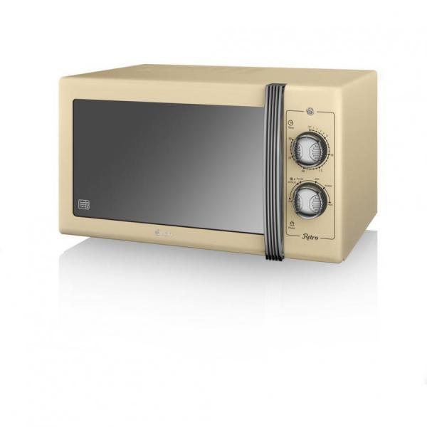 Swan Sm22070cn Retro Manual Microwave 25 Litre 900 W Energy Cl E 220 Volt Not For Usa